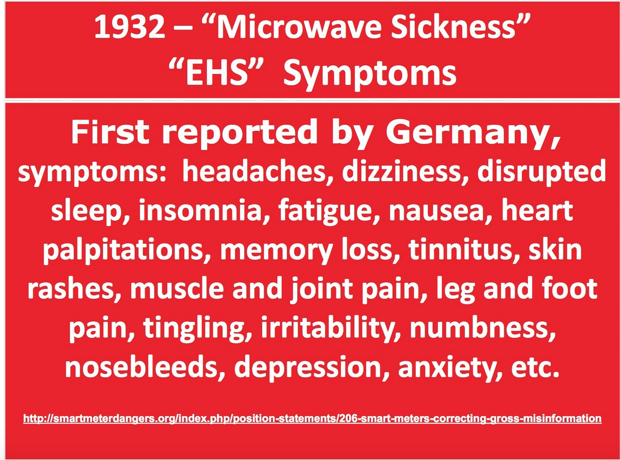 Do You Have Microwave Sickness? – RADIATION DANGERS