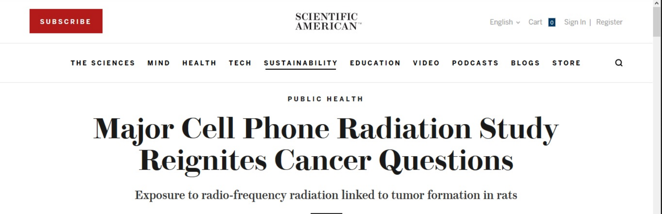 Clear Evidence of Brain and Heart Tumors from Cell Phone